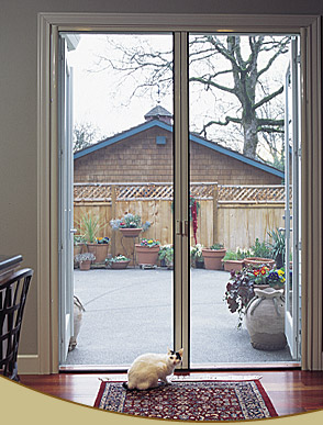 Retractable french door screens by glide screen for French doors that open out