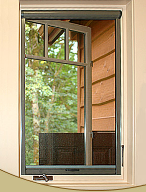Retractable casement window screens by glide screen for Pella casement window screens